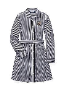 Girls 7 - 16 Bengal Stripe Shirtdress