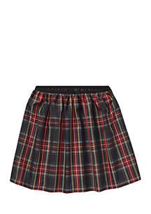 Girls 7-16 Tartan Taffeta A-Line Skirt