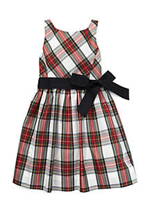 Girls 7-16 Belted Pleated Georgette Dress