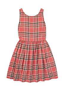 Girls 7-16 Plaid Fit-and-Flare Dress