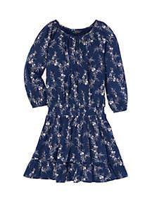 Girls 7-16 Floral Gauze Boho Dress