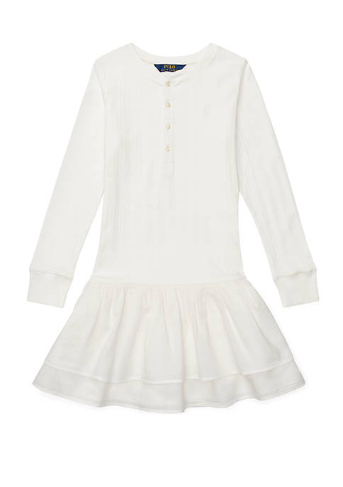Ralph Lauren Childrenswear Girls 7-16 Cotton Henley Dress