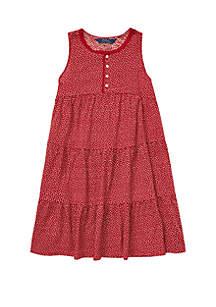 Girls 7-16 Floral Flutter-Sleeve Dress