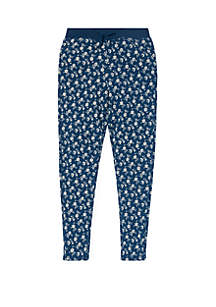 Girls 7-16 Floral Cotton Terry Pants