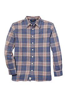 Ralph Lauren Childrenswear Girls 7-16 Plaid Tunic Shirt