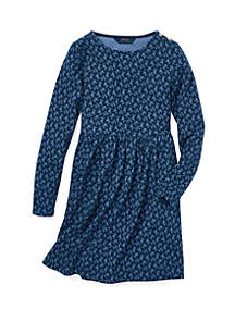 Girls 7-16 Floral French Terry Dress