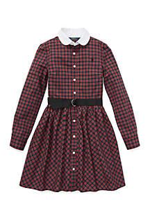 Girls 7-16 Plaid Poplin Shirtdress