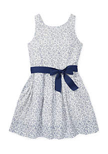 Girls 7-16 Floral Fit-and-Flare Dress