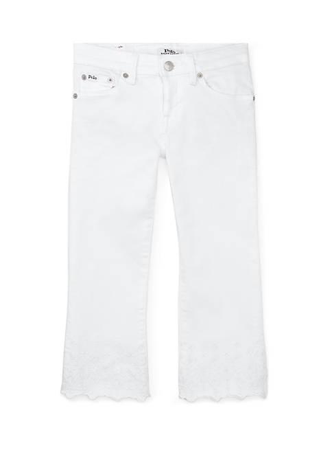Ralph Lauren Childrenswear Girls 7-16 Kick Flare Crop