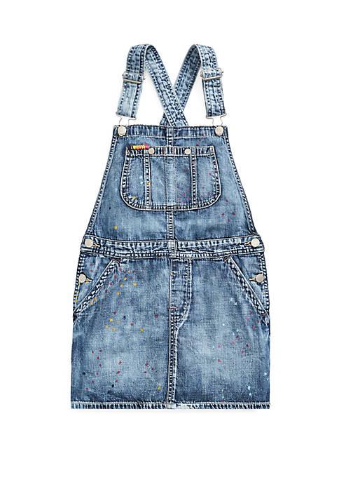 Ralph Lauren Childrenswear Girls 7-16 Cotton Denim Overall