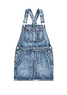 Ralph Lauren Childrenswear Girls 7-16 Cotton Denim Overall Dress