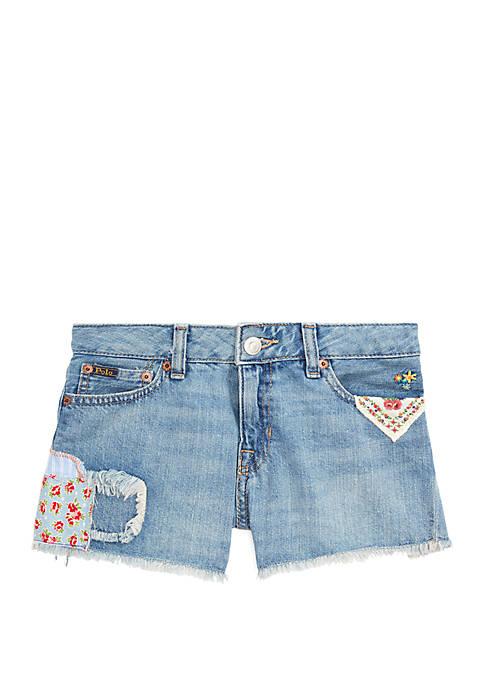 Ralph Lauren Childrenswear Girls 7-16 Distressed Cotton Denim