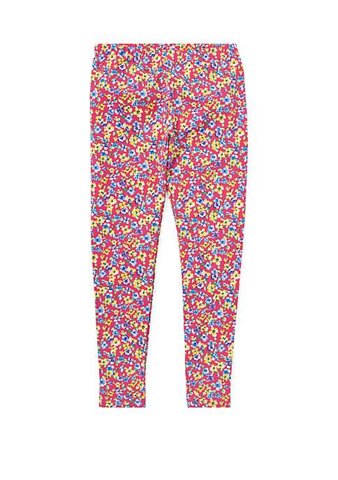 Girls 7-16 Floral Jersey Leggings