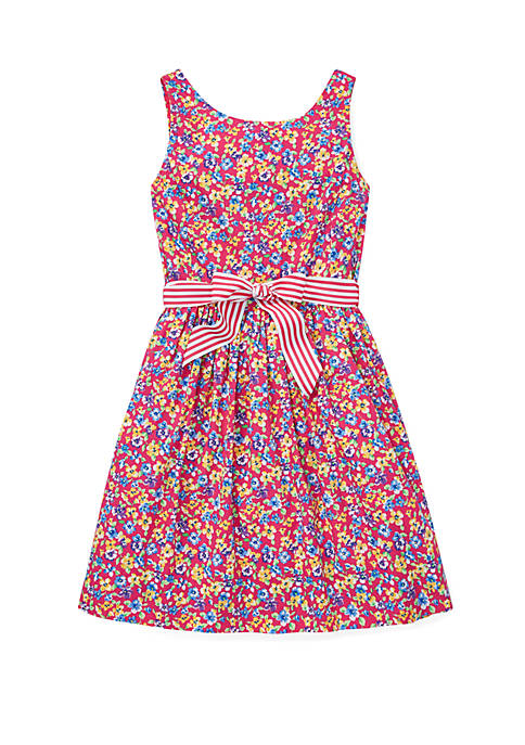 Girls 7-16 Floral Fit and Flare Dress