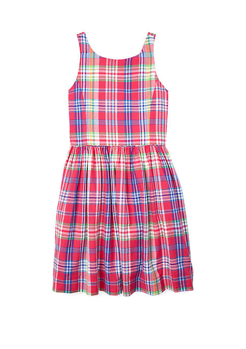 Ralph Lauren Childrenswear Girls 7-16 Madras Fit and