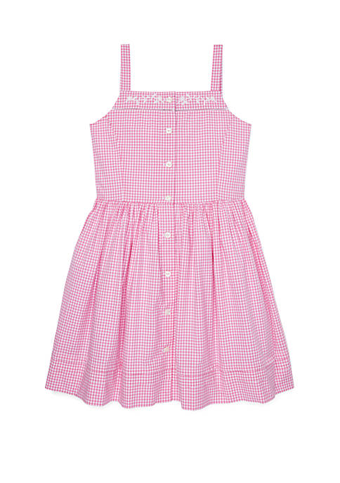 Ralph Lauren Childrenswear Girls 7-16 Gingham Woven Dress
