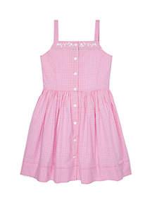 Ralph Lauren Childrenswear Girls 7-16 Gingham Woven Dress
