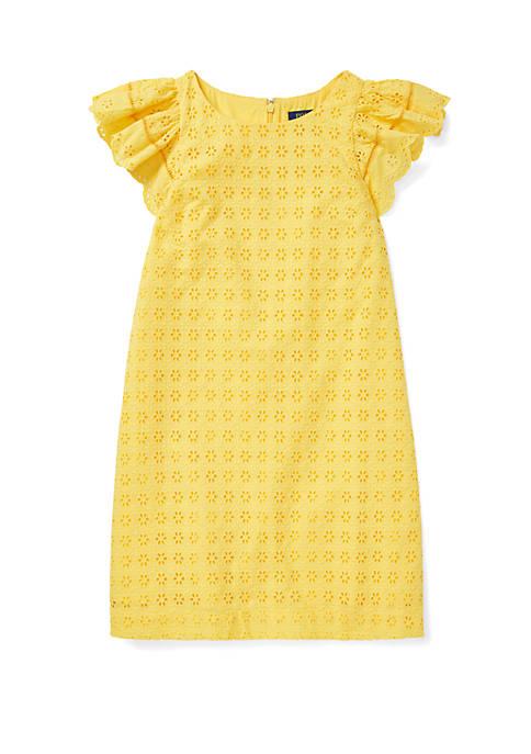 Girls 7-16 Eyelet Woven Dress