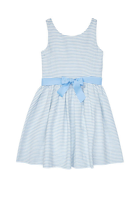 Girls 7-16 Striped Fit and Flare Dress
