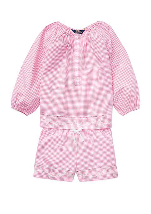 Ralph Lauren Childrenswear Girls 7-16 Gingham Top and