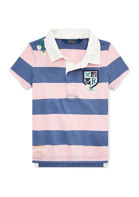 Ralph Lauren Childrenswear Girls 7-16 Embroidered Cotton Rugby