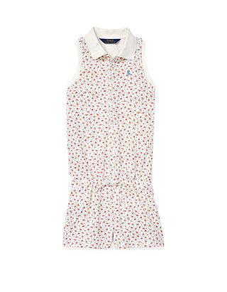 fd7f98ae5 Ralph Lauren Childrenswear Girls 7-16 Floral Mesh Polo Romper