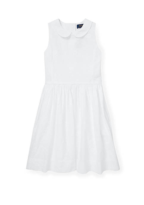 Ralph Lauren Childrenswear Girls 7-16 Floral Embroidered Dress