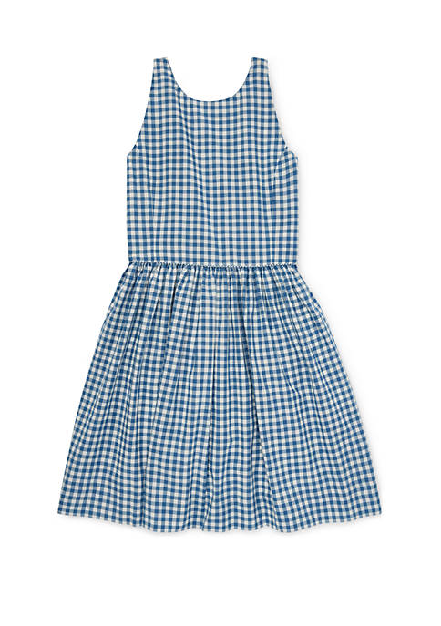 Ralph Lauren Childrenswear Girls 7-16 Gingham Cotton Dress
