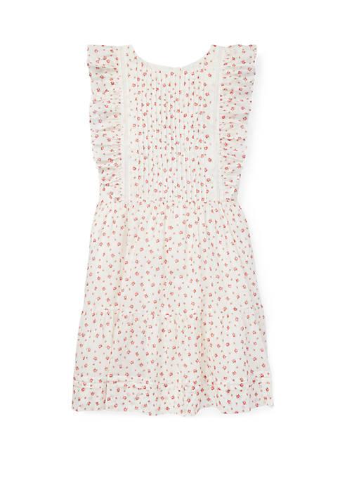 Ralph Lauren Childrenswear Girls 7-16 Floral Ruffled Cotton