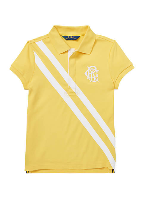 Ralph Lauren Childrenswear Girls 7-16 Stretch Mesh Polo