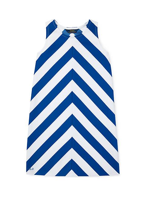 Ralph Lauren Childrenswear Girls 7-16 Chevron Stretch Ponte
