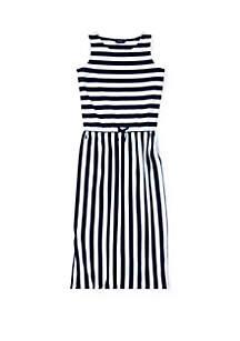 Ralph Lauren Childrenswear Girls 7-16 Striped Cotton Maxidress