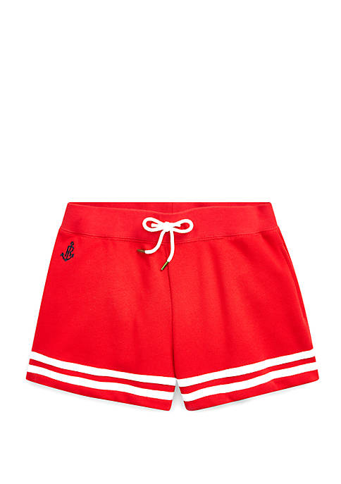 Girls 7-16 Striped French Terry Shorts