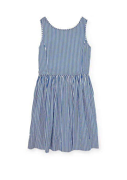 Girls 7-16 Bengal Stripe Cotton Dress