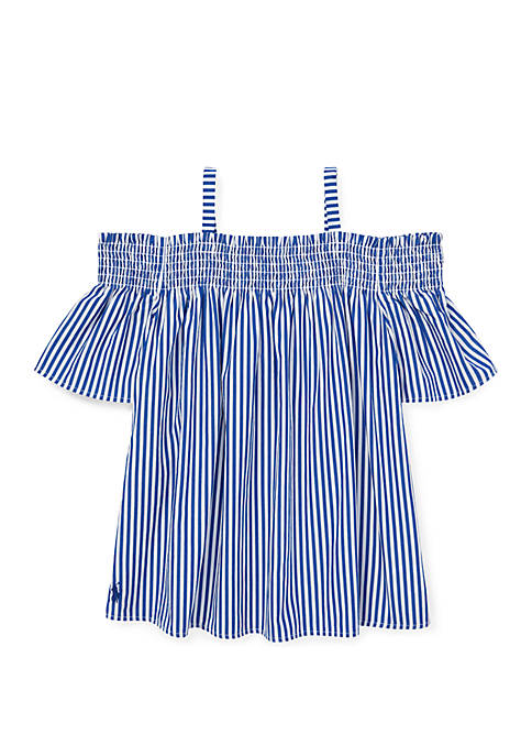 Girls 7-16 Cotton Off the Shoulder Top