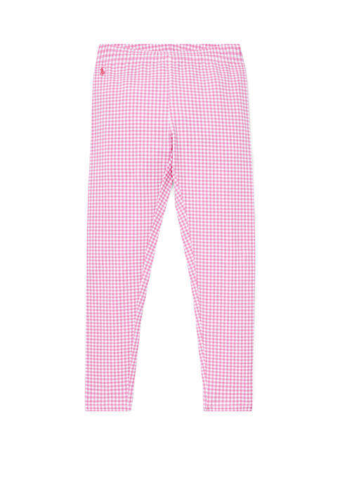 Girls 7-16 Gingham Stretch Leggings
