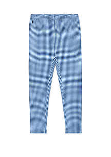 Ralph Lauren Childrenswear Girls 7-16 Gingham Stretch Legging
