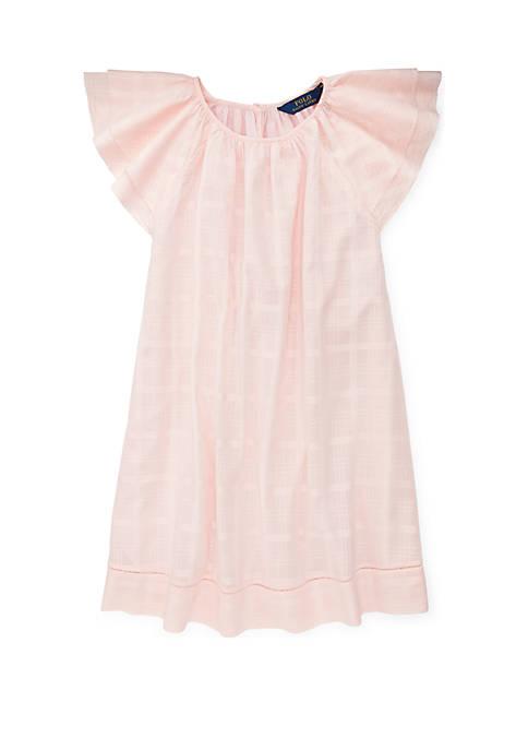 Ralph Lauren Childrenswear Girls 7-16 Flutter Sleeve Cotton