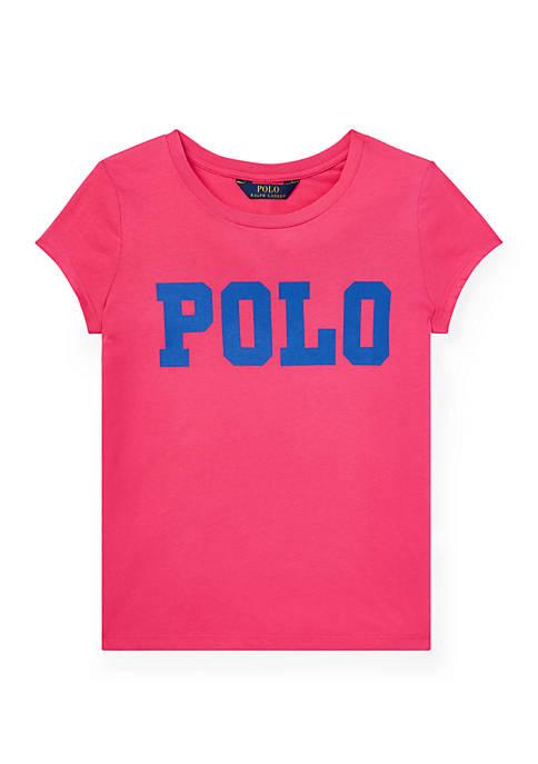 Ralph Lauren Childrenswear Girls 7-16 Cotton Jersey Graphic