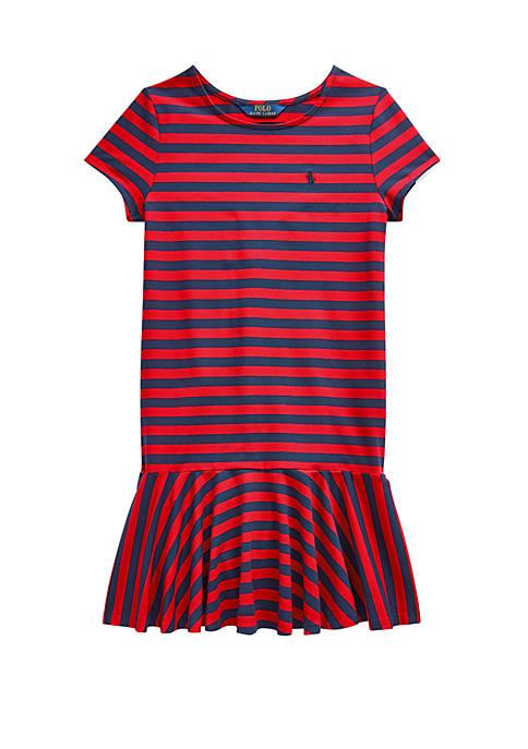 Ralph Lauren Childrenswear Girls 7-16 Striped Stretch Cotton