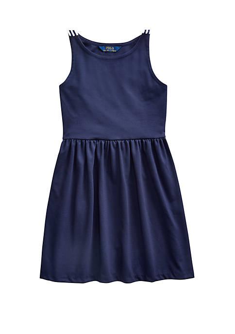 Ralph Lauren Childrenswear Girls 7-16 Ponte Fit-and-Flare Dress