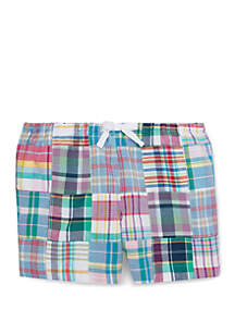 Ralph Lauren Childrenswear Girls 7-16 Patchwork Cotton Madras Shorts