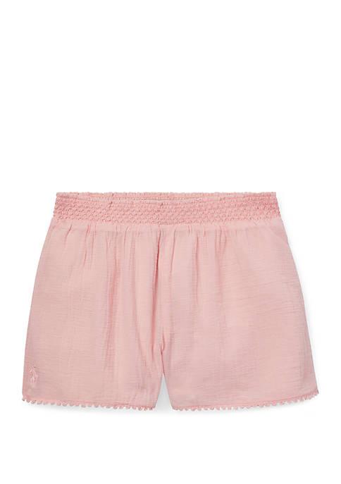 Ralph Lauren Childrenswear Girls 7-16 Lace Trim Cotton