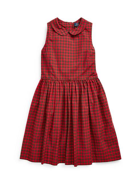 Ralph Lauren Childrenswear Girls 7-16 Plaid Cotton Poplin