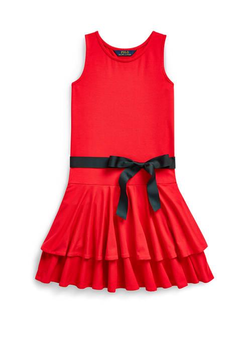 Girls 7-16 Tiered Stretch-Modal Dress