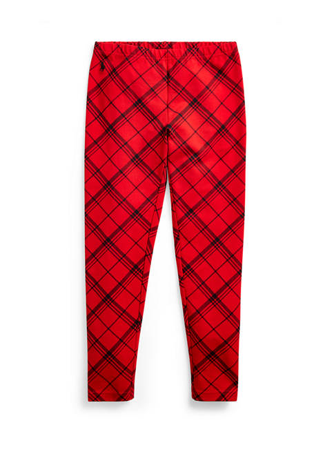 Ralph Lauren Childrenswear Girls 7-16 Plaid Stretch Jersey