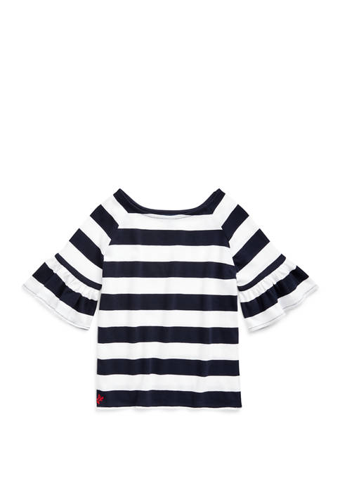 Ralph Lauren Childrenswear Girls 7-16 Ruffled Cotton Jersey