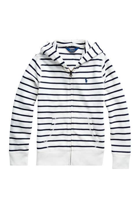 Ralph Lauren Childrenswear Girls 7-16 Striped Cotton-Blend-Terry