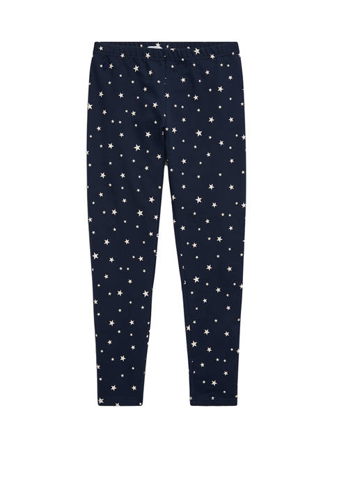 Ralph Lauren Childrenswear Girls 7-16 Star-Print Stretch Cotton