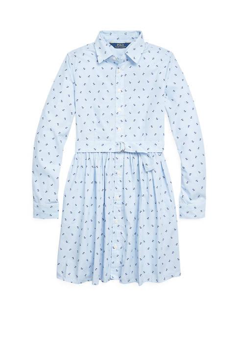 Ralph Lauren Childrenswear Girls 7-16 Anchor Cotton Shirtdress